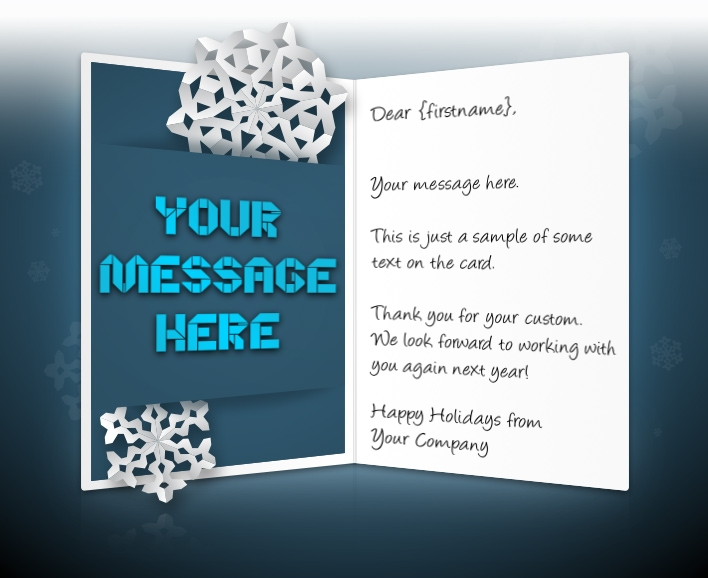 Static Christmas eCards for Business: Snowflake Message