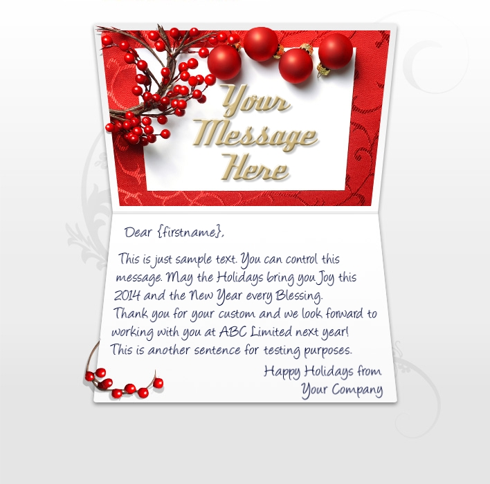 Christmas ecards for business electronic xmas holiday cards qa berries company christmas cards reheart Gallery