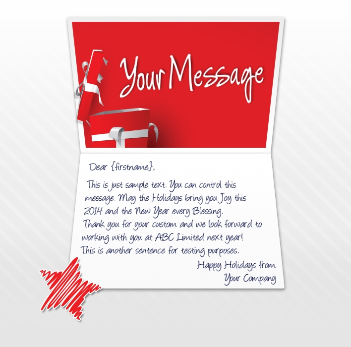 Static Christmas eCards for Business: Happy Holidays Gift EU