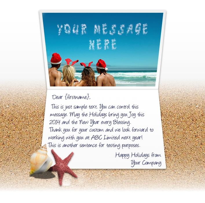 Greetings from summer holidays image collections greeting card designs christmas ecards for business electronic xmas holiday cards people on beach m4hsunfo image collections m4hsunfo