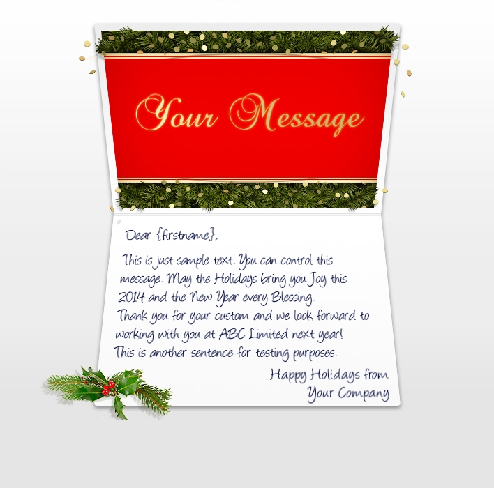 Confetti And Pine EU. Company Christmas Cards  Christmas Greetings Sample