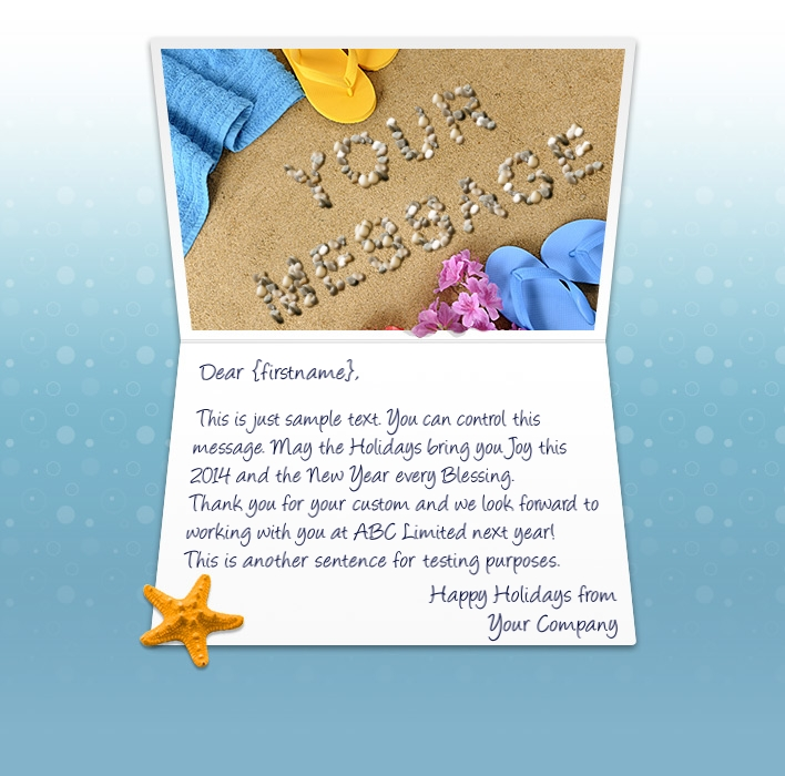 beach time static christmas your logo static christmas ecards - Christmas E Cards